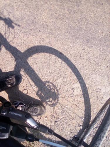 My front wheel shadow